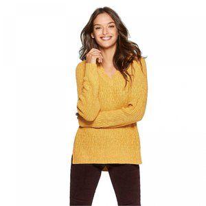 NWT V-Neck Pullover Sweater XS Squash